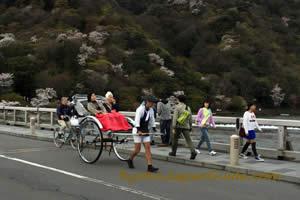 Rickshaw on Arashiyama Bridge 031