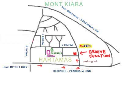 Map to Groove Junction Bistro & Cafe at Sri Hartamas