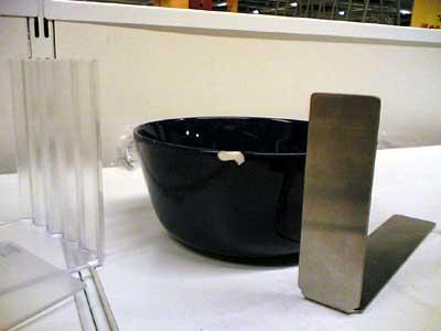 blue IKEA bowl