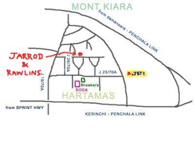 Jarrod & Rawlins, awesome pork sausage and burger, map at Sri Hartamas