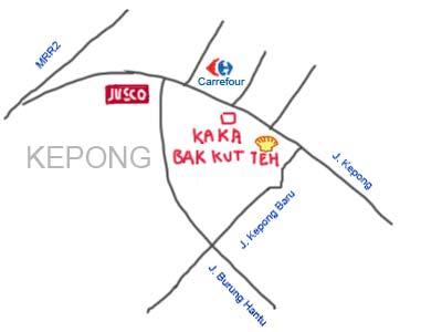 Map to Kepong Ka Ka Bak Kut Teh