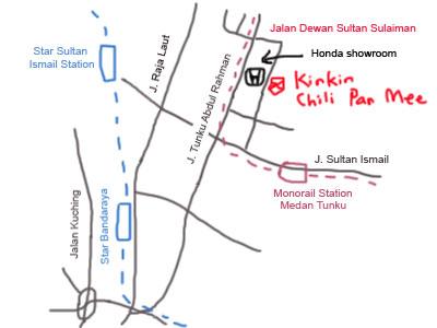 Kin Kin Chili Pan Mee at Jalan Dewan Sultan Sulaiman