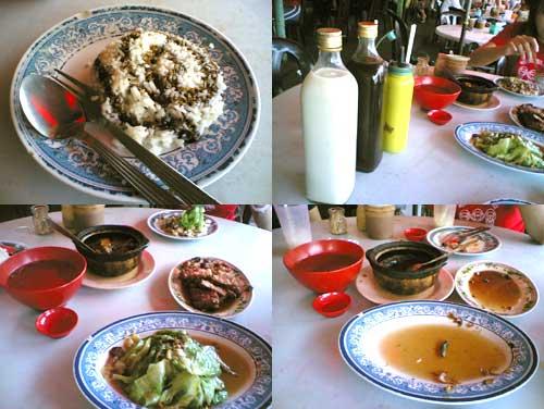 Pork rib rice at Klang