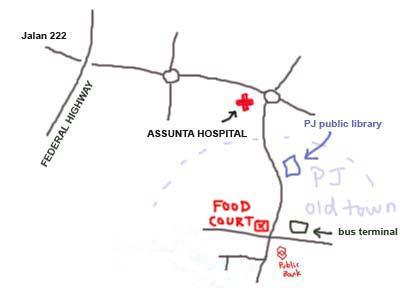 Petaling Jaya Old Town Food Court Map