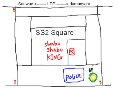 SS2 Shabu Shabu KING steamboat map