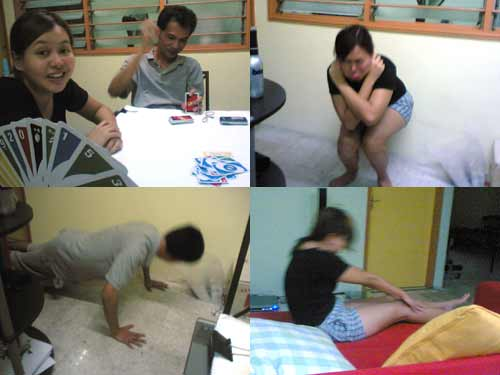 exercise with uno game