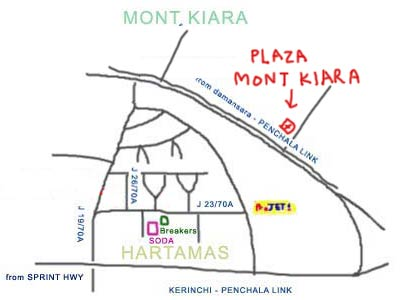 map to Zakuro Japanese Restaurant at Plaza Mont Kiara