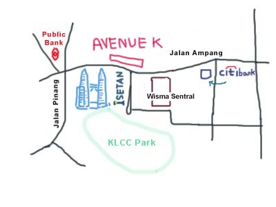 map of Avenue K