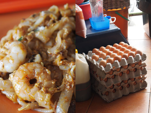 char kueh teow at restaurant jamal mohamed