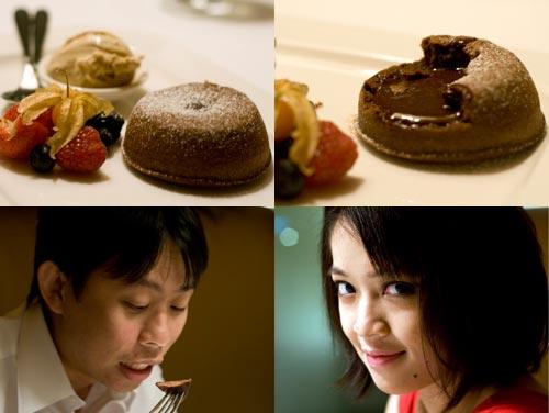 Dessert, chocolate cupcake and earl grey ice cream, Cilantro Restaurant at Micasa Hotel