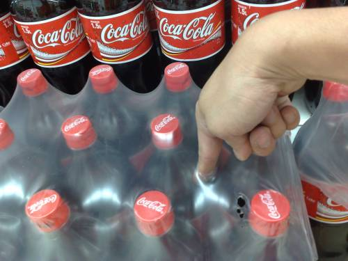 soft drink plastic wrappers, MUST POKE!