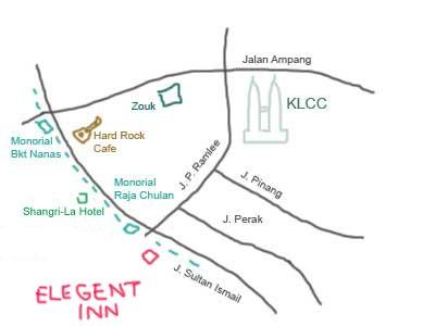 Map to Elegant Inn at Menara Hup Seng