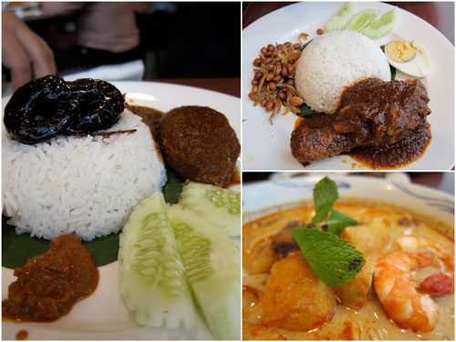 nasi lemak and curry mee at Little Penang Cafe