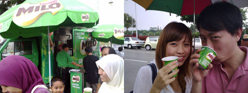best milo at Najib's hari raya open house