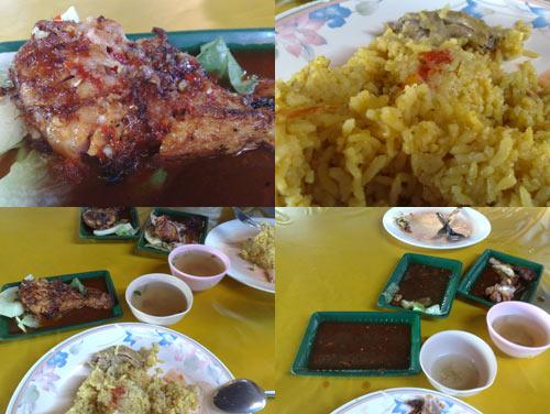 BBQ chicken rice at Kelana Jaya