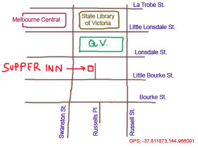map to Supper Inn Chinese Restaurant at Celestial Ave, Melbourne