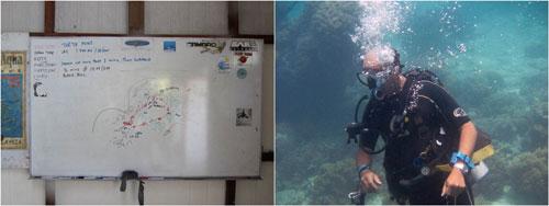 Charlie Lee, the dive master/instructor