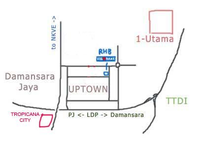 Map to Tropicana City Mall