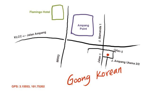 map to Goong Korean Restaurant, Ampang