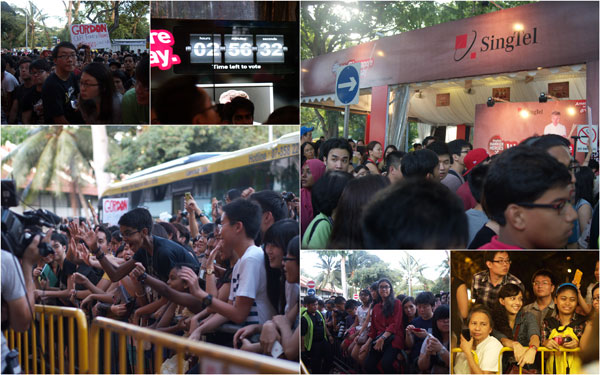 crazy crowds at SingTel's HAWKER HEROES