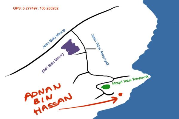 map to Adnan Bin Hassan in Penang