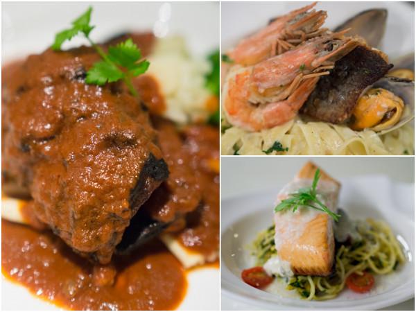 Hungarian Goulash, Seafood Pasta, Simone's Fish-e-Tarian Friend