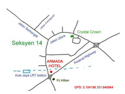 map to Armada Hotel