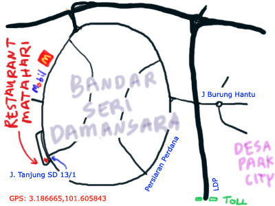map of bandar seri damansara