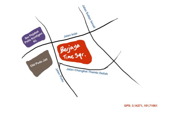 map to Berjaya Times Square