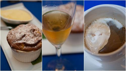 hot corossol souffle with cafe luwak, cafe amarula iced