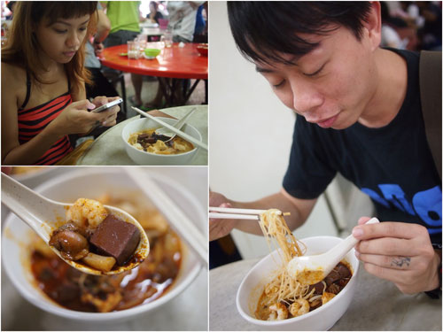 the first time Haze likes curry mee instead of tolerating it