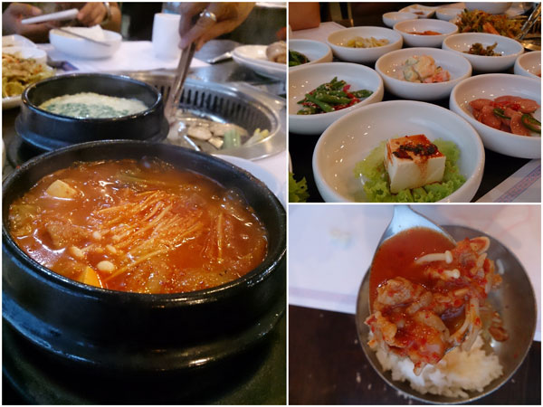 good variety of banchan, and their kimchi jiggae is one of the best