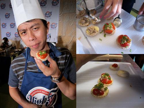 High 5 bread tuna canapes