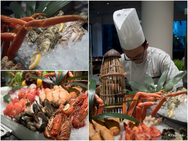 the famous seafood spread at Intercontinental KL