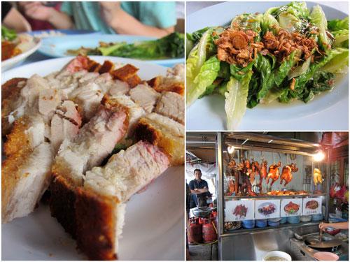 siu yoke (roast pork), vegetable at Kar Kar Lai