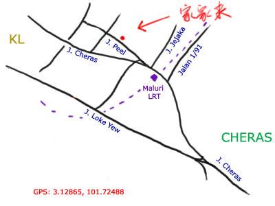 map to Kar Kar Lai at Jalan Peel