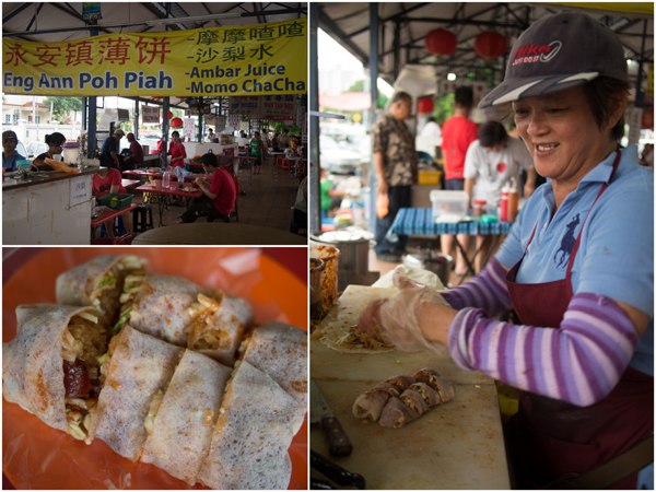 the pohpiah is infused with pork lard and lap cheong too