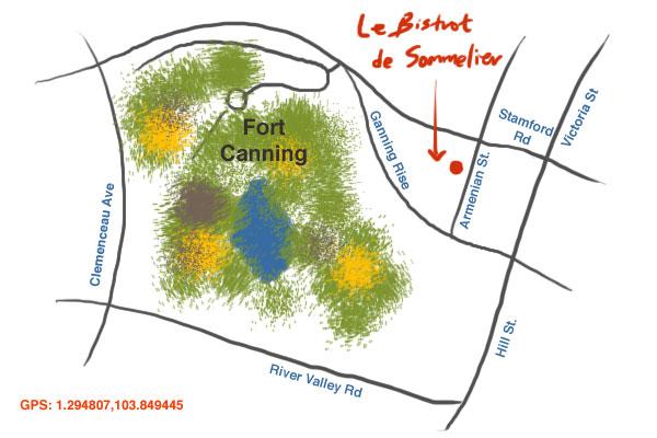 map to Le Bistrot du Sommelier