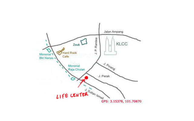 map to Life Centre, KL
