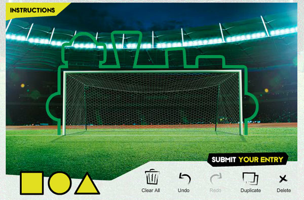 KY's MILO Cans goalpost design