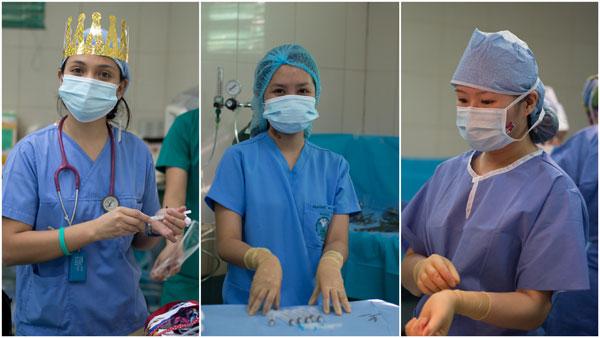 2 OR nurses and a dentist