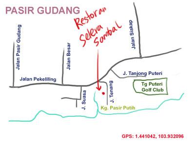 restoran Selera Sambal at Pasir Gudang - map