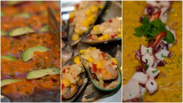 Ceviche - salmon, mussels, tuna & octopus
