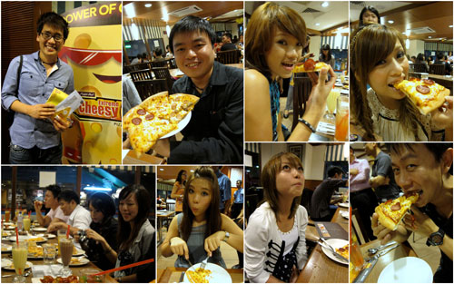 pizza hut makan gang!