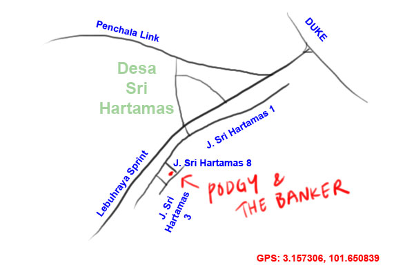 map to Podgy and the Banker