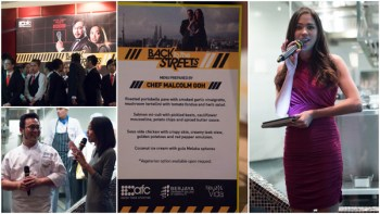 Chef Malcom Goh & host Tham Zher Peen for AFC's Back to the Streets
