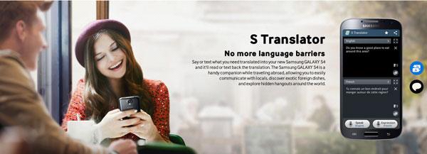 Samsung Galaxy S4 S Translator