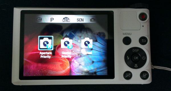 Av, Tv, and M modes with Samsung Smart Camera