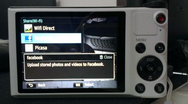 Social Sharing - Samsung WB150F