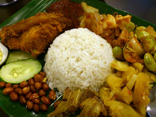 the glorious siamese nasi lemak with everything